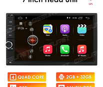 "2DIN Android 10, 2GB + 32GB, 7"", BT. UUS"