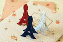 Eiffel Tower desk clip card holder set 3pc