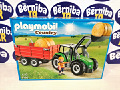 Large tractor with trailer Playmobil 6130