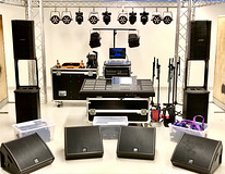 Tourin PA system & lighting equipments